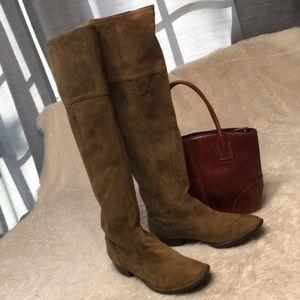 Knee high boot NICOLE khaki brown